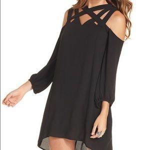 BCBG Carley Black Cutout Dress- Med